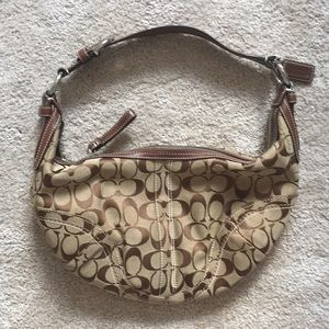 Coach Signature Small Brown Hobo Bag